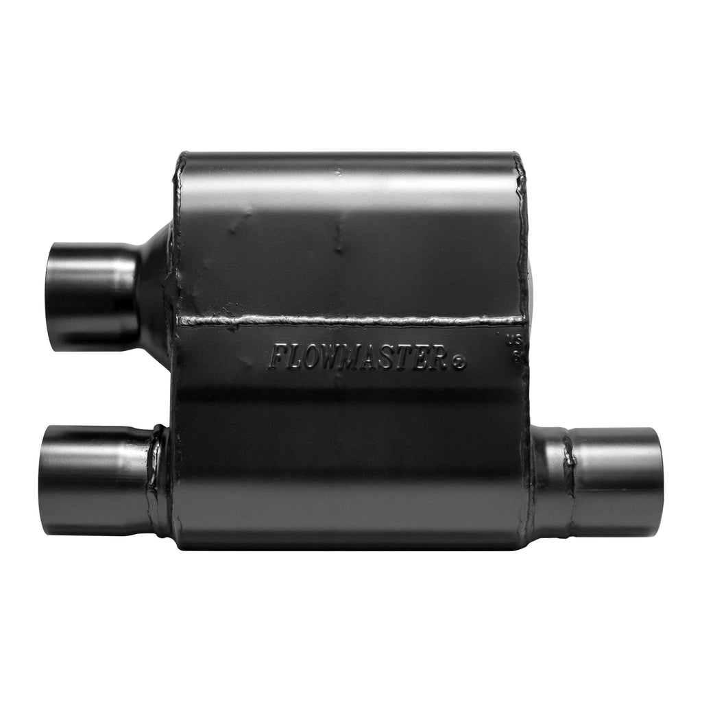 Super 10 Series Muffler - 2.50 Offset In / Dual Out - Aggressive Sound (8425810) | Flowmaster