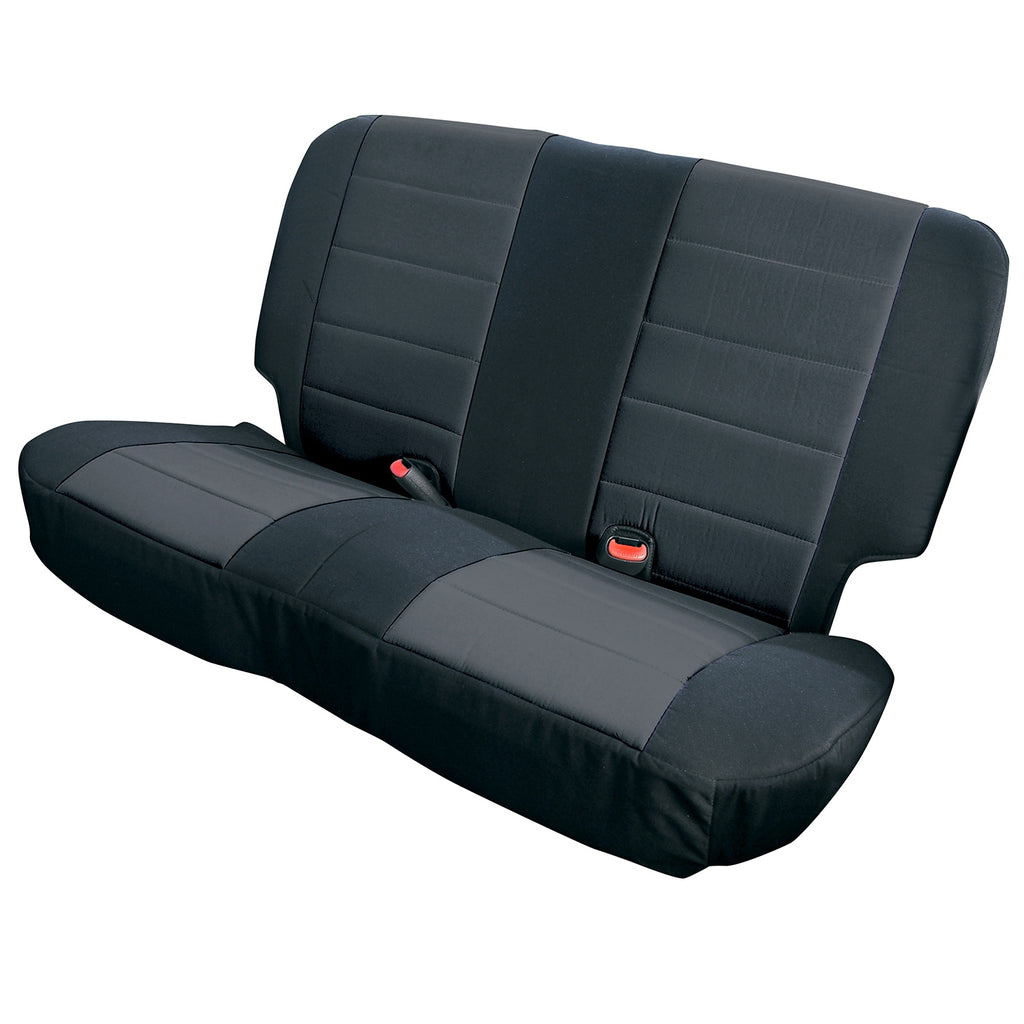 Neoprene seat cover, Rugged Ridge, rear, black, 03-06 Wrangler (13263.01) | Rugged Ridge