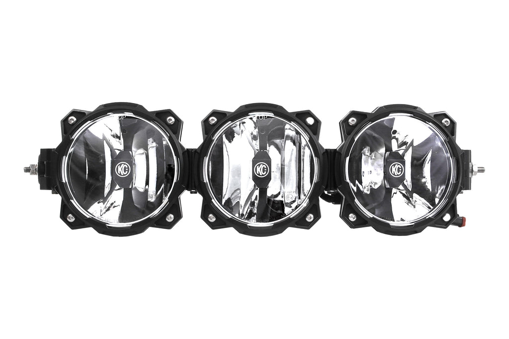 The Gravity LED Pro6 LED light bar is an LED off-road lighting system utilizing patent-pending Infinity Ring system featuring radius to straight adjustability, modular beam patterns and expandable widths. (91318) | KC HiLiTES