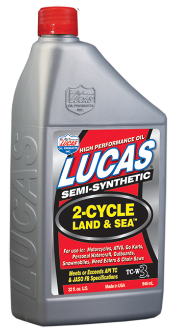 Semi-Synthetic 2- Cycle Land and Sea Oil (10467) | Lucas Oil Products