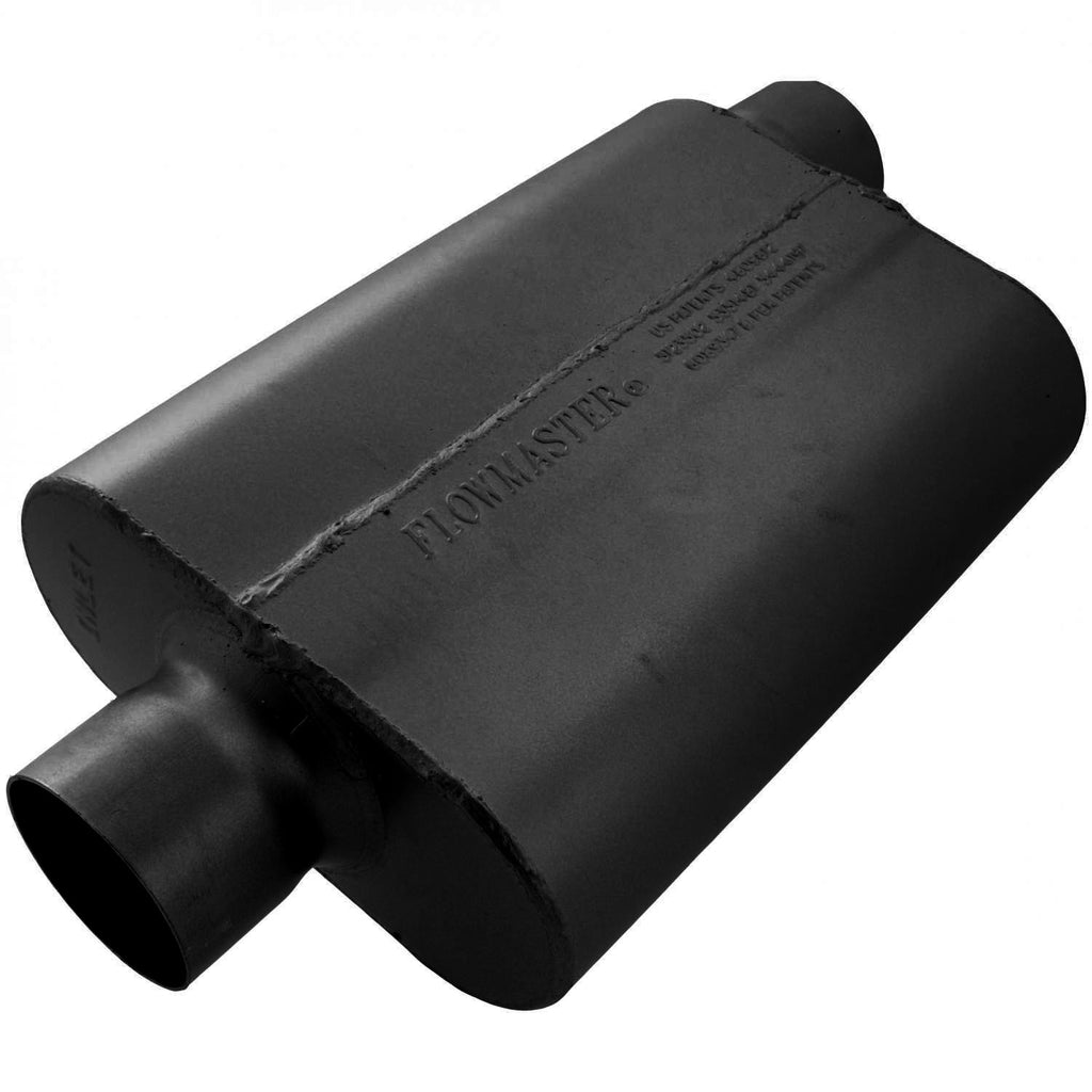Universal 40 Delta Flow Muffler - 3.00 Center In / 3.00 Offset Out - Aggressive Sound (943042) | Flowmaster