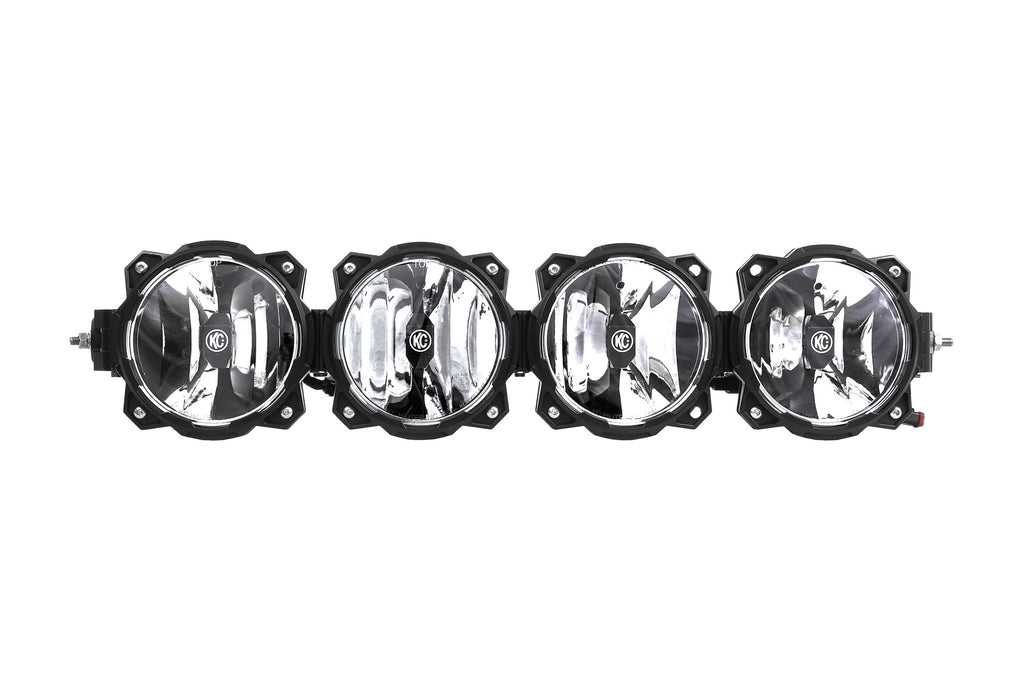 The Gravity LED Pro6 LED light bar is an LED off-road lighting system utilizing patent-pending Infinity Ring system featuring radius to straight adjustability, modular beam patterns and expandable widths. (91319) | KC HiLiTES