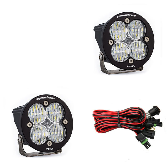 x2Squadron-R Pro auxiliary light using 4 leds 4,900 lumens out of a 3x3 housing. (597805) | Baja Designs