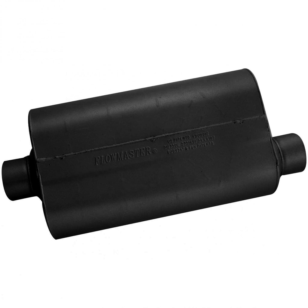 Super 50 Muffler 409S - 3.00 Center In / 3.00 Offset Out - Mild Sound (853057) | Flowmaster