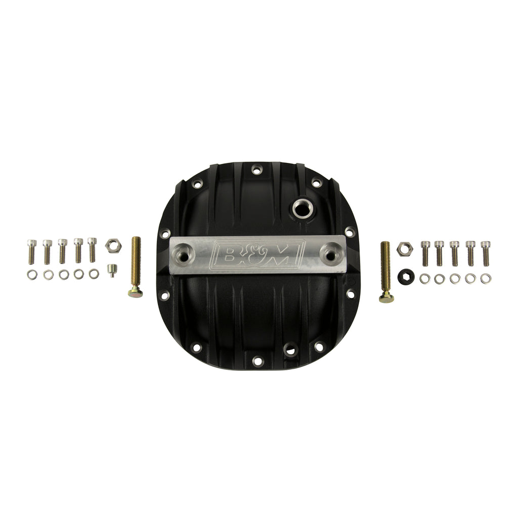 B&M Hi-Tek Aluminum Differential Cover for Ford 8.8-inch - Black. (41297) | B&M