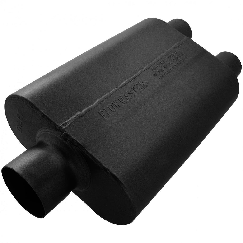 40 Delta Muffler 409S - 3.00 Center In / 2.50 Dual Out - Aggressive Sound (8430402) | Flowmaster