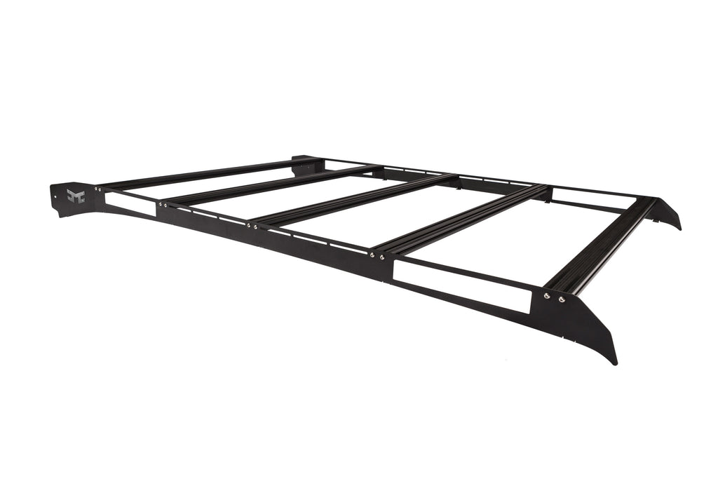 KC M-RACKS performance roof rack for 02-06 Chevy Avalanche uses a low profile all aluminum design and functional features like integrated LED light mounts and crossbars with track mounts to meet your cargo carrying needs. (9206) | KC HiLiTES