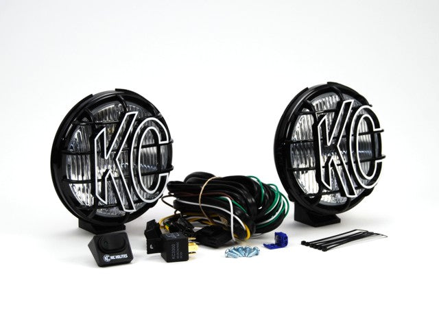 "6"" Apollo Pro Halogen Pair Pack System - Black - KC #152 (Fog Beam) (152) 