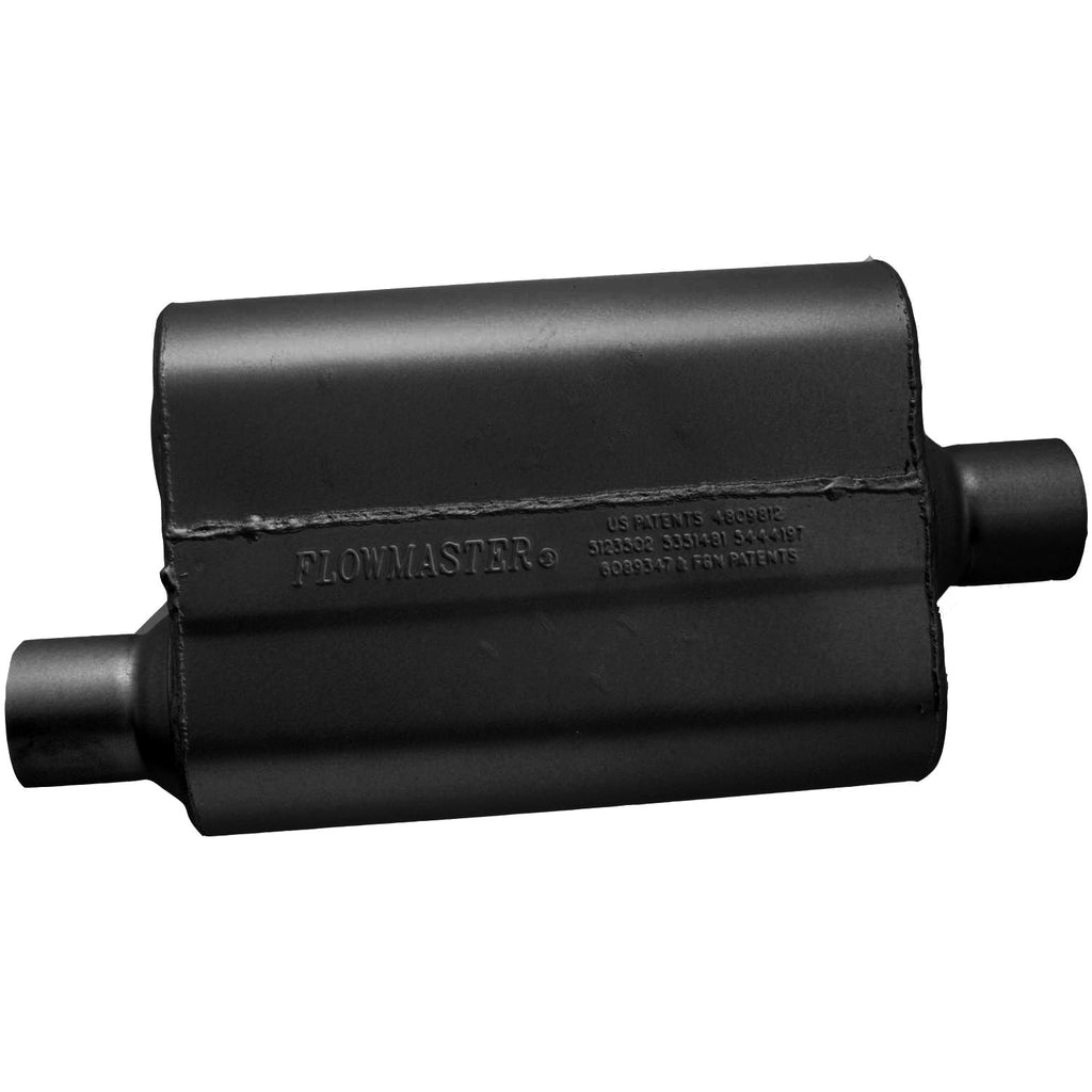Universal 40 Delta Flow Muffler - 2.50 Offset In / 2.50 Center Out - Aggressive Sound (942541) | Flowmaster