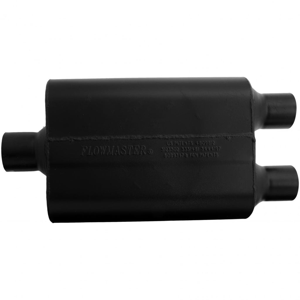 Super 44 Muffler - 2.50 Center In / 2.25 Dual Out - Aggressive Sound (9425452) | Flowmaster