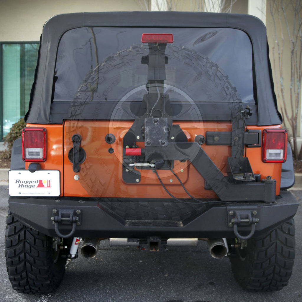 XHD Tire Carrier, Gen II, Swing and Lock; 07-18 Jeep Wrangler JK (11546.25) | Rugged Ridge