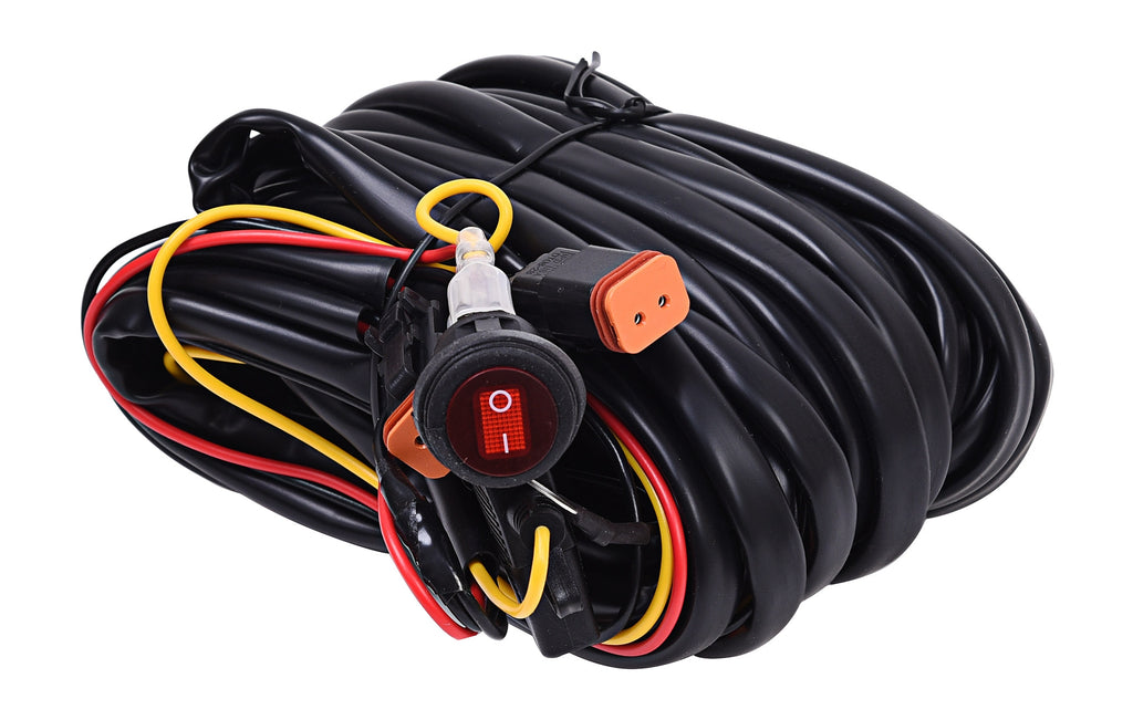 Wiring Harness for Two Backup Lights with 2-Pin Deutsch Connectors - KC #63091 (63091) | KC HiLiTES