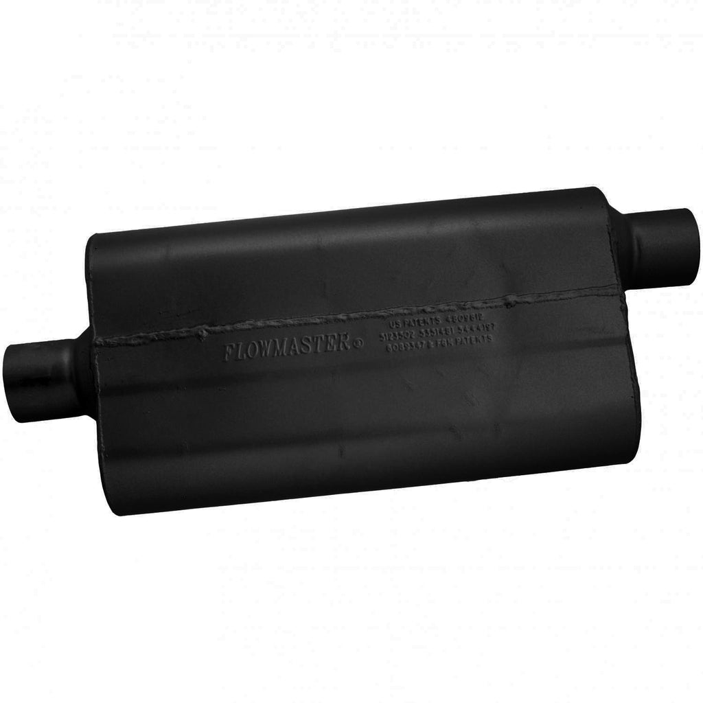 50 Delta Flow Muffler - 2.50 Center In / 2.50 Offset Out - Moderate Sound (942552) | Flowmaster