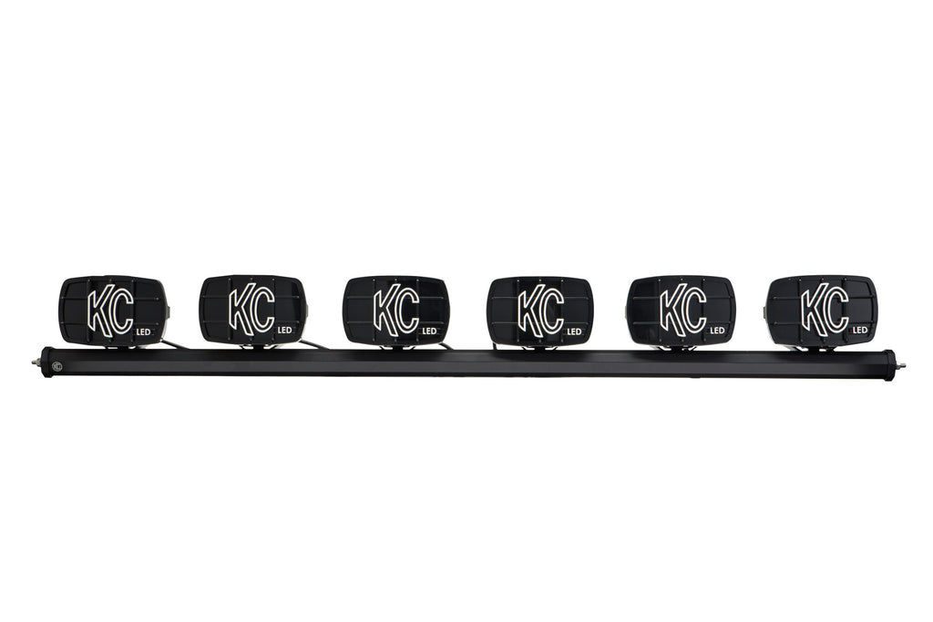 "KC's 50"" Xross bar provides a turnkey overhead mounting solution to mount (6) Gravity LED G46 lights to your vehicle. Gravity LED G46 Xross Bar kit includes plug-n-play wiring and LED light switch. (97054) 