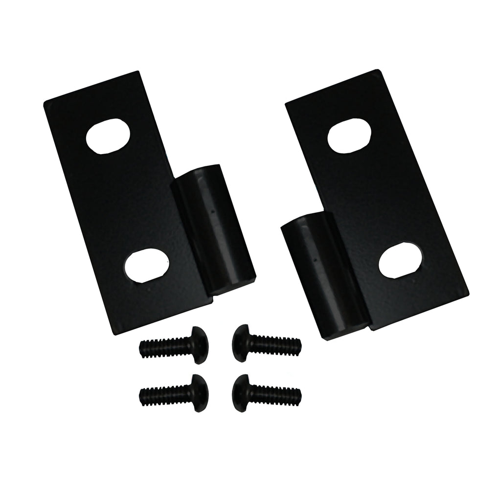 Door Hinge Brackets, Lower, Black; 76-06 Jeep CJ/Wrangler YJ/TJ (11202.03) | Rugged Ridge