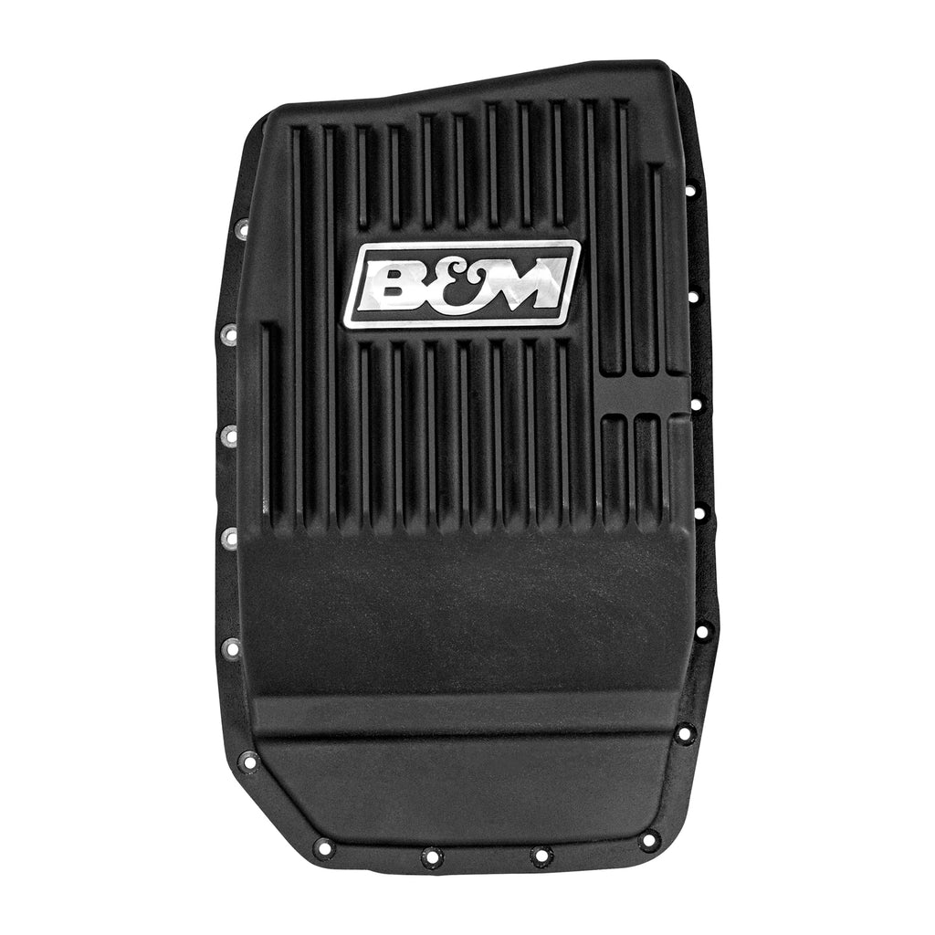 Cast Aluminum Transmission Pan for Ford 6R80 - Black Anodized (70394) | B&M
