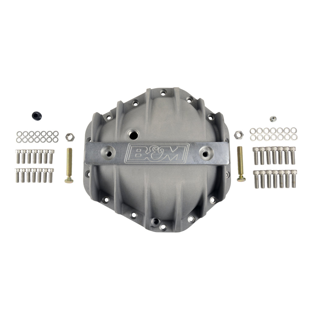"Cast Aluminum Differential Cover for GM 10.5"" 14 Bolt, Extra Capacity (70501) 