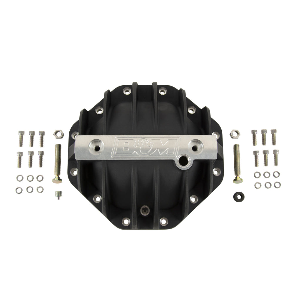 "Cast Aluminum Differential Cover for Chrysler 9.25"", Extra Capacity - Black (11306) 