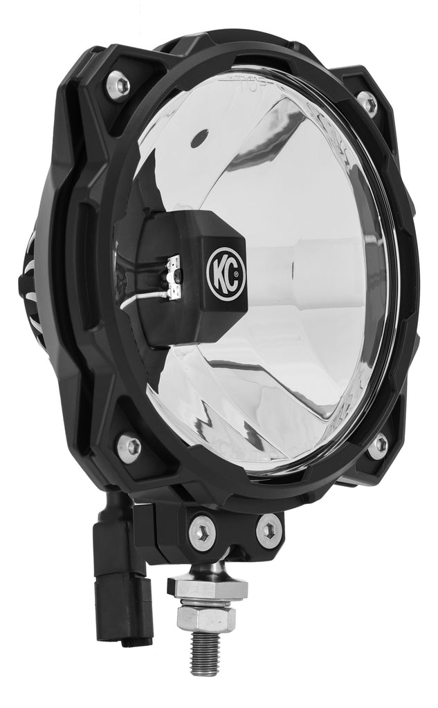 The Gravity LED Pro6 Single is an off road LED light utilizing the Infinity Ring housing encasing a Gravity LED G6 optical insert and mounts via an all-new ball-mount system, giving you output and versatility in one (91304) | KC HiLiTES