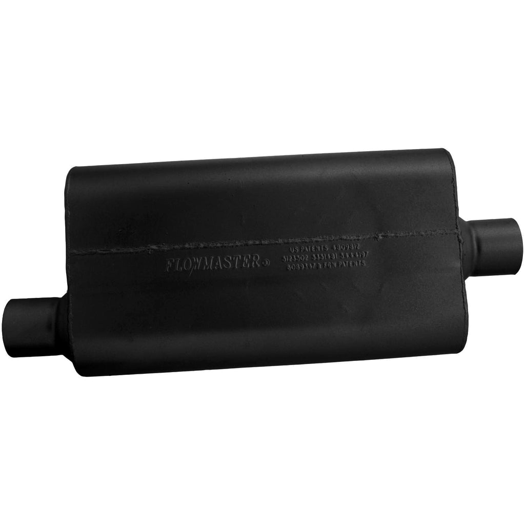 Universal 50 Delta Flow Muffler - 2.50 Offset In / 2.50 Center Out - Moderate Sound (942551) | Flowmaster
