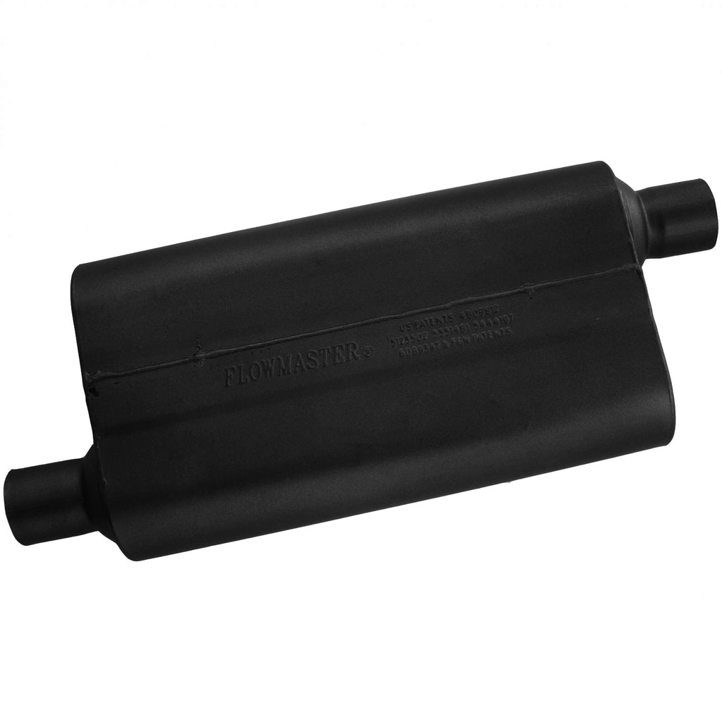 Universal 50 Delta Muffler 409S - 2.25 Offset In / 2.25 Offset Out - Moderate Sound (842453) | Flowmaster