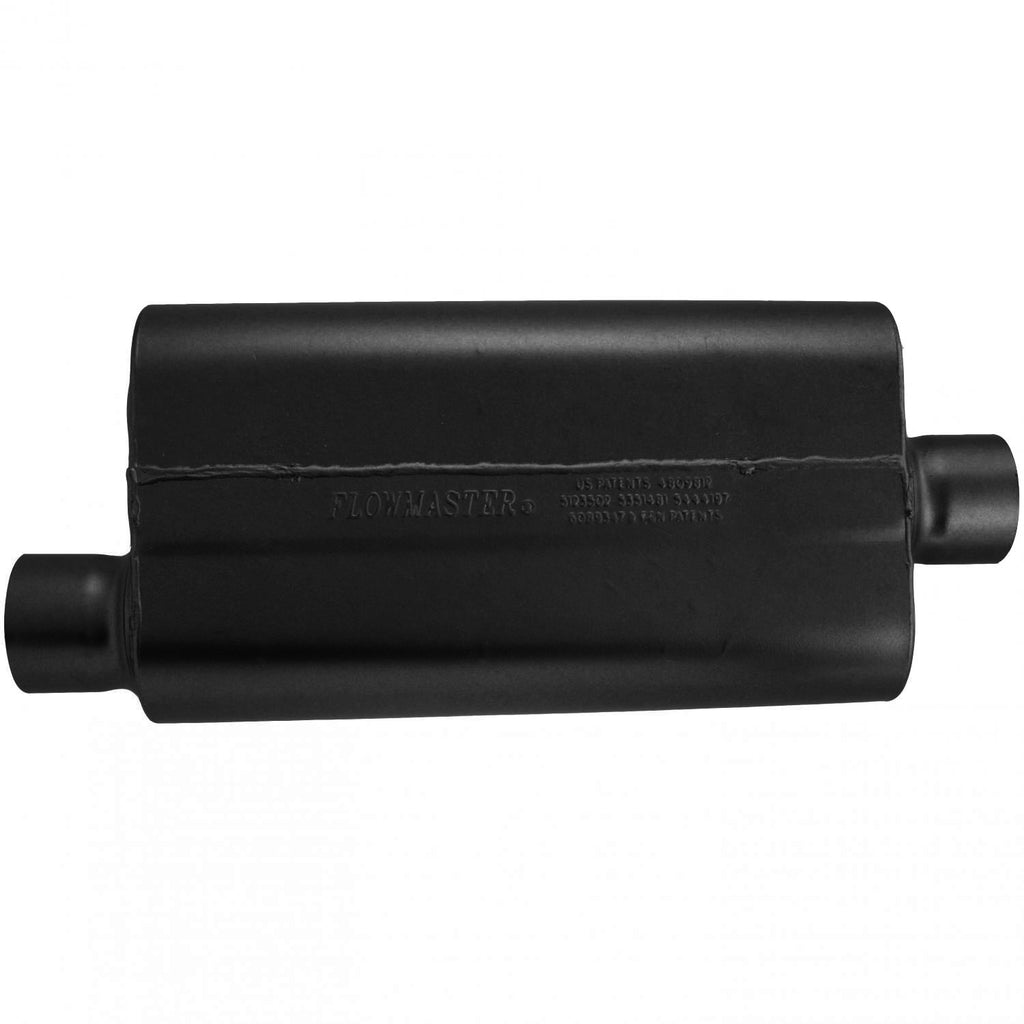 Universal 50 Delta Muffler 409S - 3.00 Offset In / 3.00 Center Out - Moderate Sound (843051) | Flowmaster