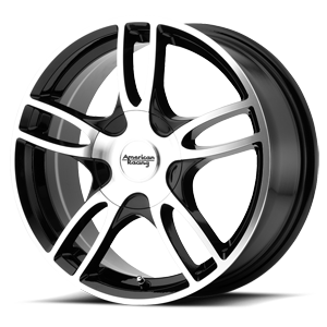 14x6 American Racing Custom Wheels ESTRELLA 2 5x100.00 35 AR91946031335