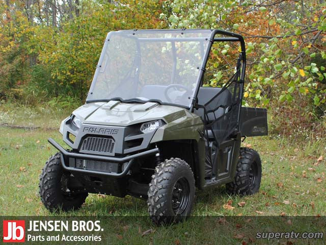 Polaris Ranger Midsize Scratch Resistant Full Windshield 1