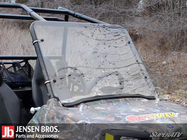 Polaris RZR 170 Scratch Resistant Full Windshield 1