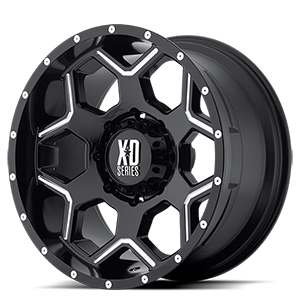 20x10 XD Series by KMC BATALLION  8x170.00 -24 XD81321087324N