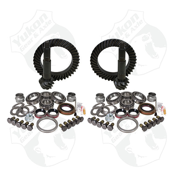 Differential Gear & Install Kit Package For Jeep JK Rubicon, 4.11 Ratio (YGK056) | Yukon Gear