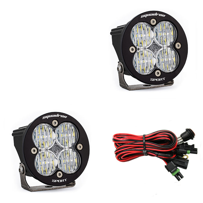 x2Squadron-R Sport auxiliary light using 4 leds 1,800lumens in a 3.5x3.5 housing (587805) | Baja Designs