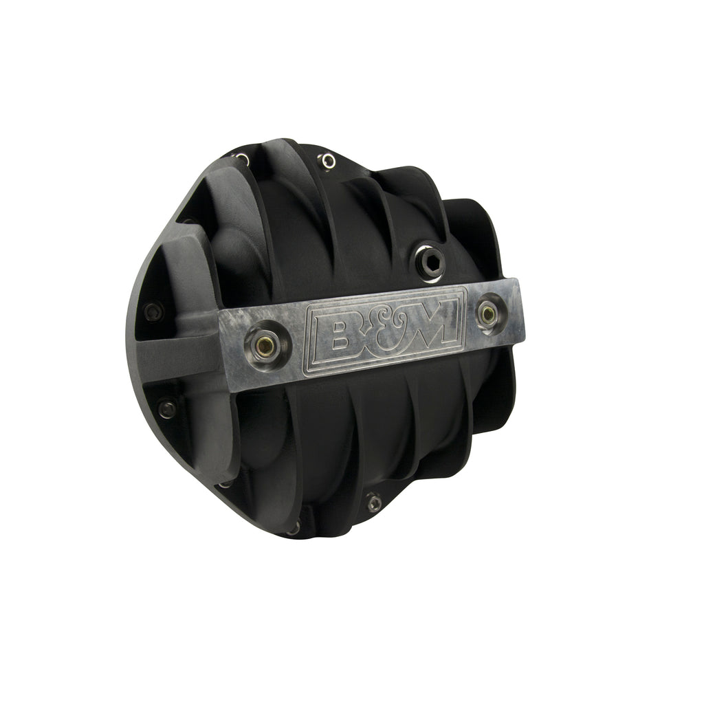 "Cast Aluminum Differential Cover for GM 8.875"" 12 Bolt Truck - Black (71504) 