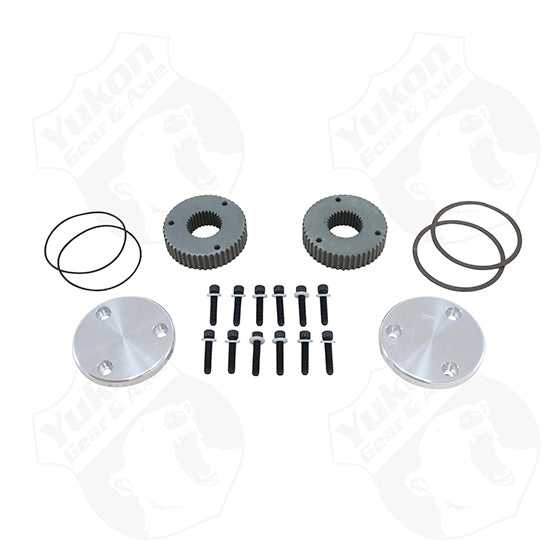 Hardcore Drive Flange Kit For Dana 60, 30 Spline Outer Stubs, Engraved Caps (YHC50003) | Yukon Gear