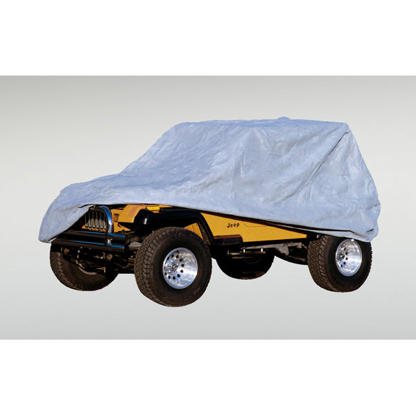 Weather-Lite Car Cover, Full; 76-95 Jeep CJ/Wrangler YJ (13321.51) | Rugged Ridge