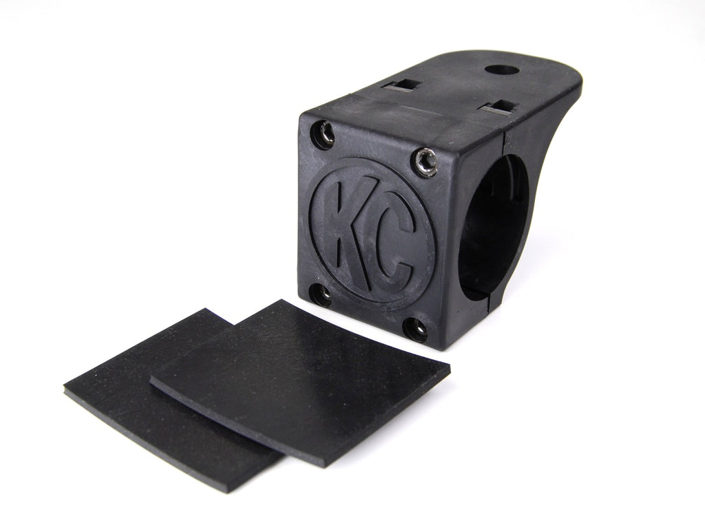 "KC Hilites 73071 Tube Clamp Mounting Bracket pair allow you to mount KC Hilites light to 1.75"" to 2"" diameter round light bars and roof racks. Features a 2-piece black tube clamp design and rubber adjustment shims. (73071) 