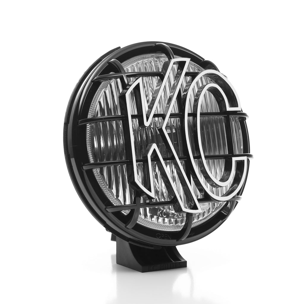 "KC's 6"" Apollo Halogen use 100W Halogen bulbs in a fog beam pattern. Features a slim, black polymax housing and glass lens including rugged, built in stone guards ready to take on the harshest off road terrains (1152) 