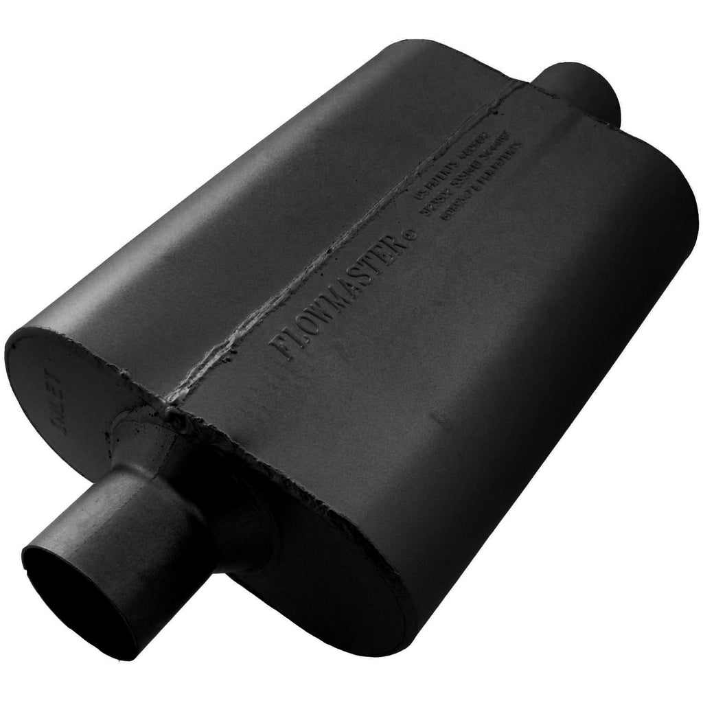 Universal 40 Delta Flow Muffler - 2.50 Center In / 2.50 Center Out - Aggressive Sound (942540) | Flowmaster