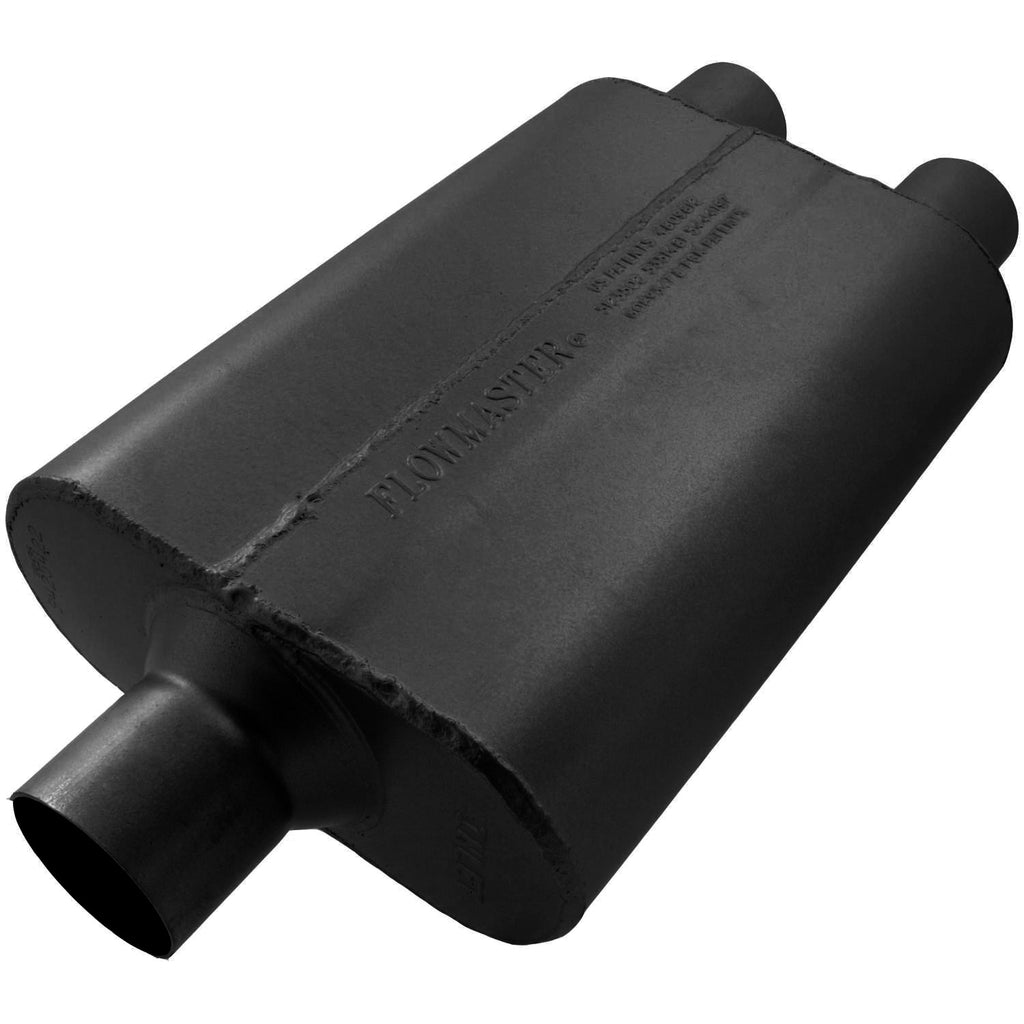 Universal 40 Delta Flow Muffler - 2.50 Center In / 2.25 Dual Out - Aggressive Sound (9425422) | Flowmaster