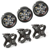 Light Kit, X-Clamp/Round LED, Large, Textured Black, 3 Pieces (15210.95) | Rugged Ridge
