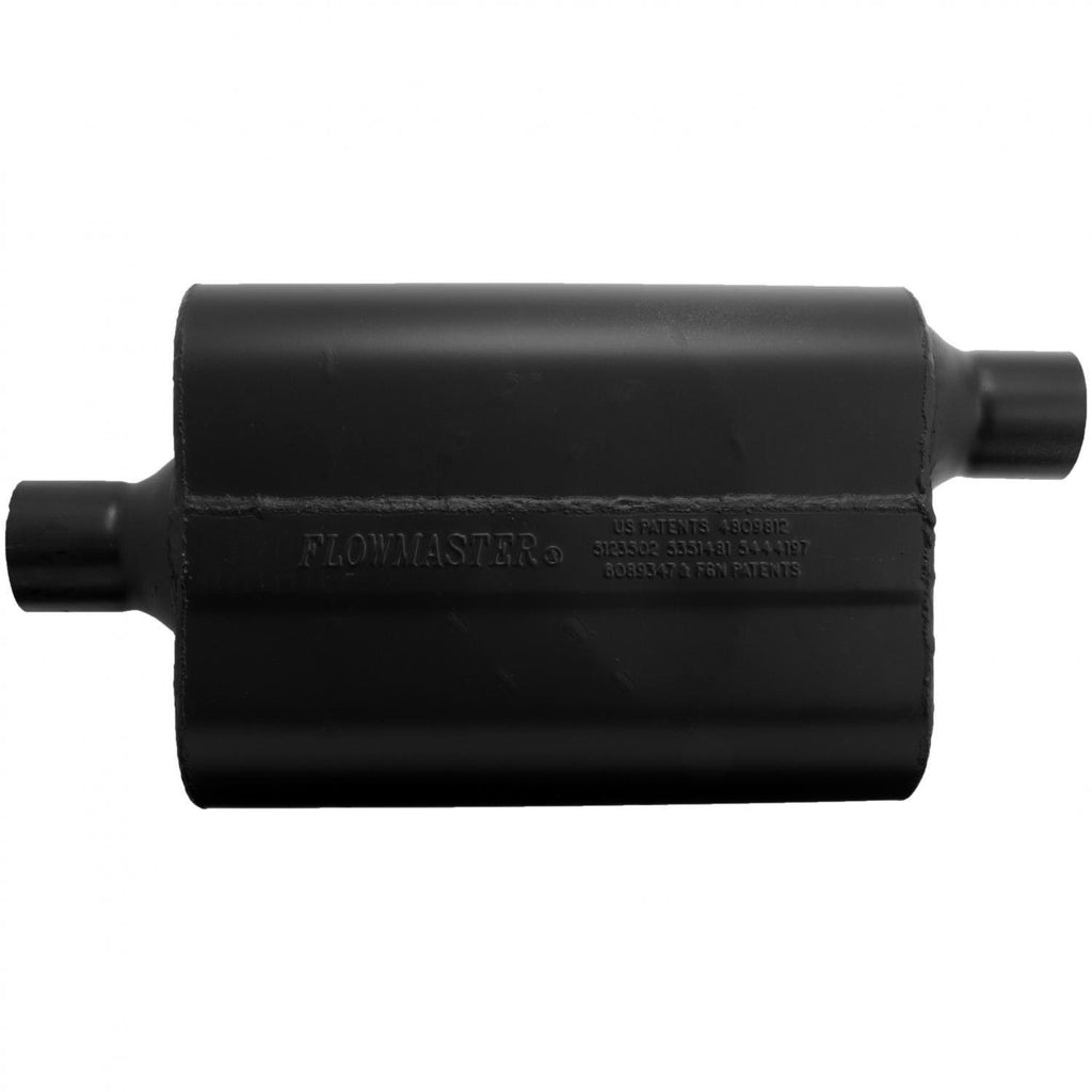 Super 44 Muffler - 2.25 Center In / 2.25 Offset Out - Aggressive Sound (942447) | Flowmaster
