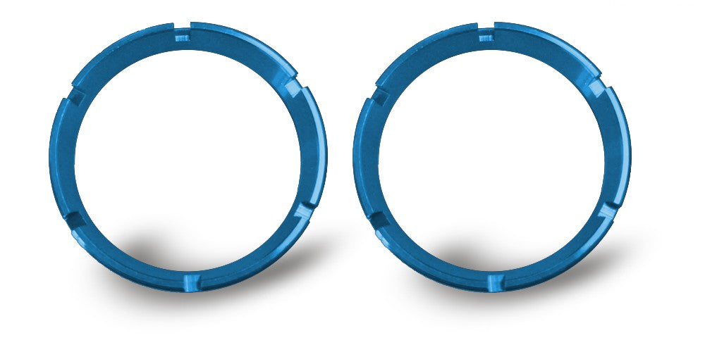 KC FLEX Series Blue Colored Bezel rings are a direct replacement for standard gold KC FLEX Series Bezel rings. Includes specific tool to easily replace and personalize your KC FLEX LEDs, comes in packs of 2. (30553) | KC HiLiTES