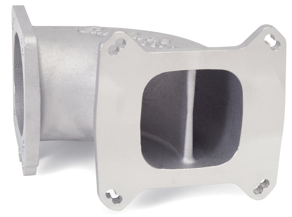 High Flow Intake Elbow, 95mm Throttle Body to Square-Bore Flange, as-cast finish (3849) | Edelbrock
