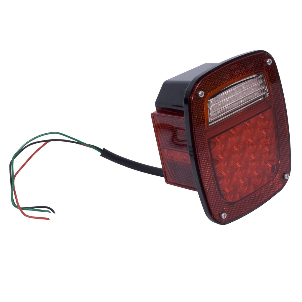 Tail Light Assembly, Left, LED; 76-06 Jeep CJ/Wrangler YJ/TJ (12403.83) | Rugged Ridge