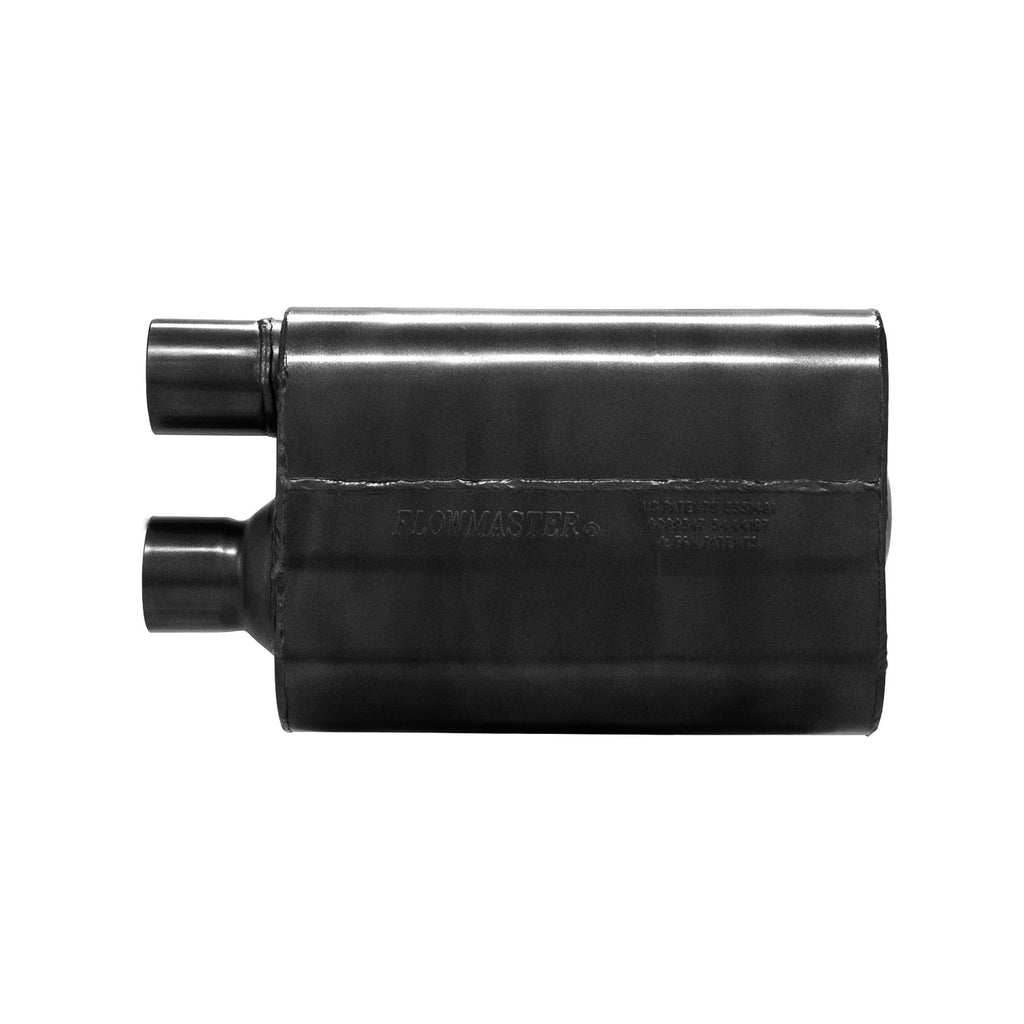 80 Series Muffler-2.5 in. Offset In/2.5 in. Offset Same Side Out-Moderate/Aggressive Sound (842580) | Flowmaster