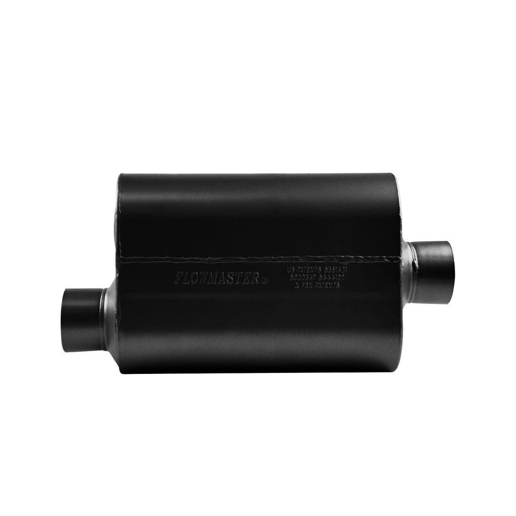 Super 40 Muffler 409S - 3.00 Offset In / 3.00 Center Out - Aggressive Sound (853046) | Flowmaster