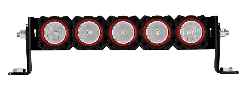 KC FLEX Series Red Colored Bezel rings are a direct replacement for standard gold KC FLEX Series Bezel rings. Includes specific tool to easily replace and personalize your FLEX LEDs, comes in a pack of 5. (30564) | KC HiLiTES