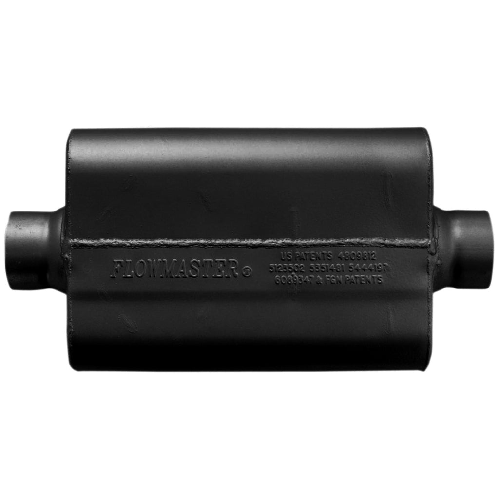 50 Series Race Muffler 409S - 2.50 Center In / 2.50 Center Out -Aggressive Sound (8325508) | Flowmaster