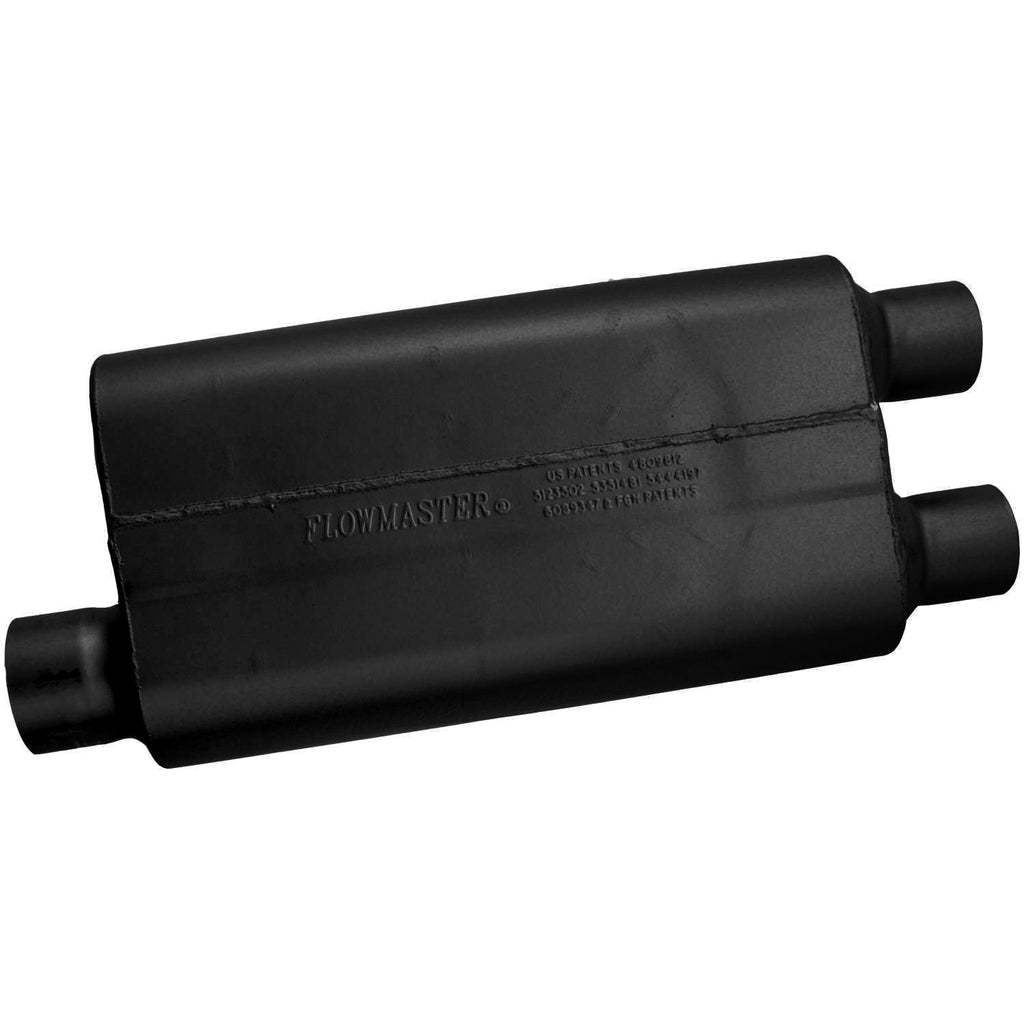 50 Delta Flow Muffler - 3.00 Offset In / 2.50 Dual Out - Moderate Sound (9430512) | Flowmaster