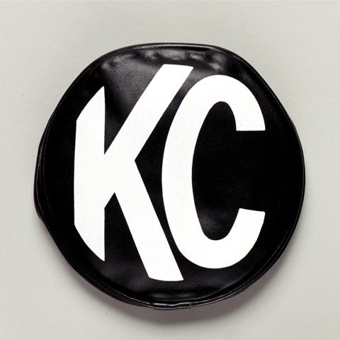 "KC Hilites 5"" Black Vinyl with white KC Logo fit securely on 5"" Round lights. KC's light covers are designed not only to bring customized style to your vehicle but also protect and keep lights clean. Soft Vinyl covers are sold as a pair. (5400) 